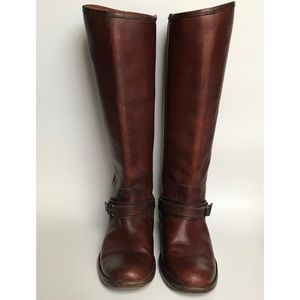 Frye Phillip Ring Tall Leather Riding Boots 5.5